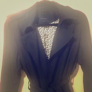 Zara black trench coat.